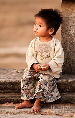 Cambodian Girl 02 Art Print by Rick Piper Photography
