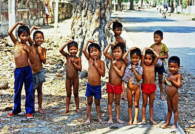 Cambodian Kids Art Print by Joe  Connors
