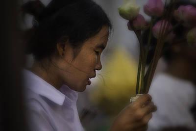 Cambodian Prayers Original by David Longstreath