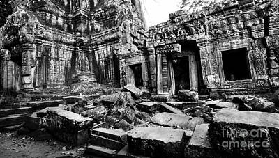 Cambodian Ruin At Ta Prohm Art Print