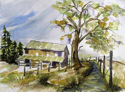 Cambria Barn Original by Francie Beaman