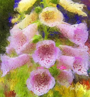 Digital Art - Cambria Cowbell Flowers by Jim Pavelle