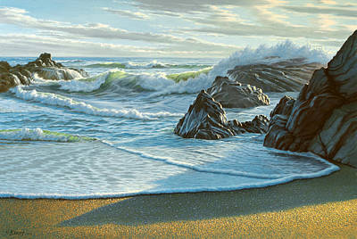 Surf Painting - Cambria Seascape  by Paul Krapf