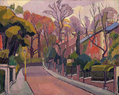 Cambrian Road, Richmond Signed, Stamped In Violet Paint Art Print by Litz Collection