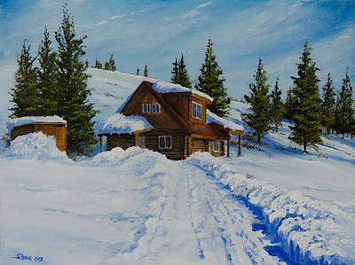 Steele Painting - Cambridge Cabin by Chris Steele