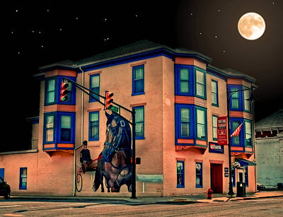 Cambridge City At Night Art Print