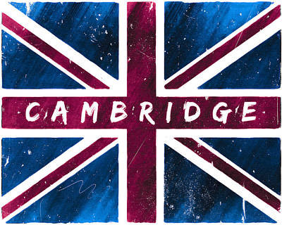 Digital Art - Cambridge Distressed Union Jack Flag by Mark E Tisdale