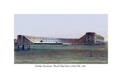 Soldier Field Digital Art - Cambridge Massachusetts - Harvard College Stadium At Soldiers Field - 1904 by John Madison