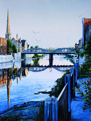 Small Town Painting - Cambridge Summer Morning by Hanne Lore Koehler