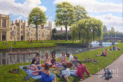 Cambridge University Painting - Cambridge Summer by Richard Harpum