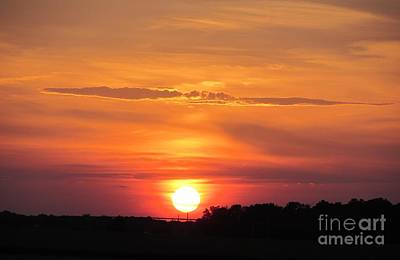 Photograph - Cambridge Sunset Over The Chesapeake Bay Photography By Debra J. Nester Copyright 2013 by Debbie Nester
