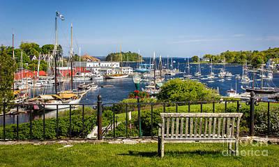 Midcoast Photograph - Camden Harbor by Benjamin Williamson
