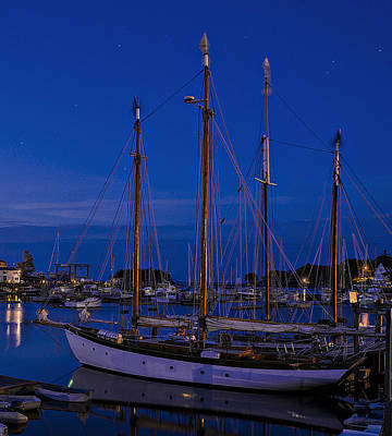 Camden Harbor Maine At 4am Art Print