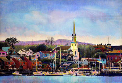 Camden Maine Harbor Art Print by Cindy McIntyre