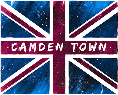 Digital Art - Camden Town Distressed Union Jack Flag by Mark Tisdale