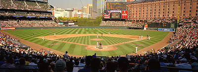 Camden Yards Baseball Game Baltimore Art Print by Panoramic Images