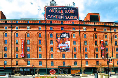 Stadium Digital Art - Camden Yards by Bill Cannon