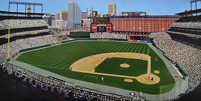 Camden Yards Matenee Art Print by Thomas  Kolendra