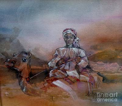 Painting - Camel And Boy by Donna Acheson-Juillet