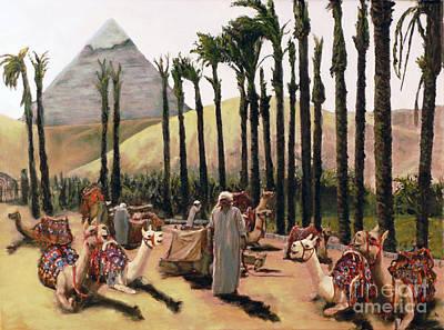 Camel Caravan Jockey Art Print