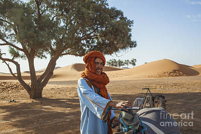 Photograph - Camel Driver In Sahara by Patricia Hofmeester