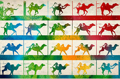 Camel Locomotion Art Print