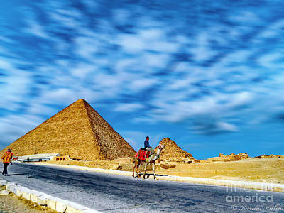 Photograph - Camel Rider by Karam Halim