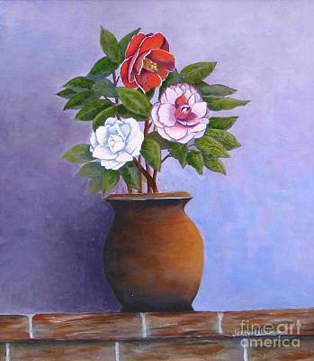 Painting - Camellia Bouquet by Jerry Walker
