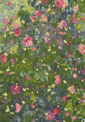 Camellia Painting - Camellia In Flower by Leigh Glover