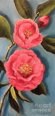Painting - Camellias by Randol Burns