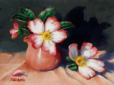 Painting - Camellias And Chinese Tea Jug II by Margaret Stockdale