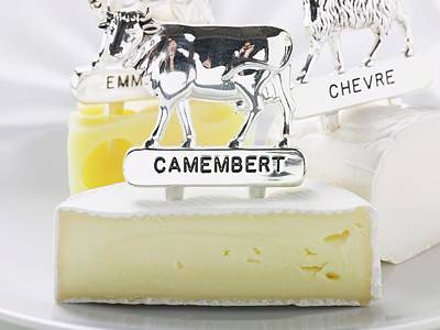 Camembert, Ch?vre And Emmental With Animal Figures Art Print