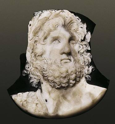 Cameo Depicting Jupiter. 2nd C. Onyx Art Print by Everett