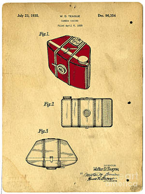 Drawing - Camera Casing Patent 1935 by Edward Fielding