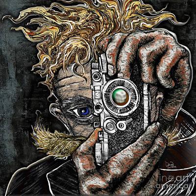 Camera Art Drawing - Camera Eye by Doug LaRue