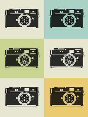 Camera Grid Poster Art Print by Naxart Studio