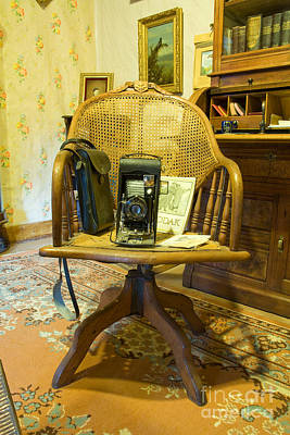 Photograph - Camera In Office At The Macgregor Ranch by Fred Stearns