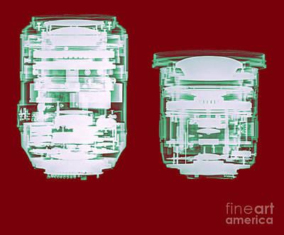Camera Lens Under X-ray.  Art Print