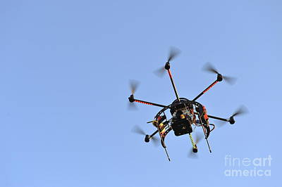 Camera On Unmanned Aerial Vehicle Art Print by Sami Sarkis