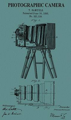 Vintage Camera Mixed Media - Camera Patent On Canvas by Dan Sproul