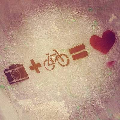 Plus Photograph - #camera #plus #bike #equal #love #luv by Tiago Sales Moreira