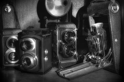 Photograph - Cameras In The Cupboard 2 by Michael Eingle