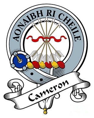 Cameron Clan Badge Art Print by Heraldry