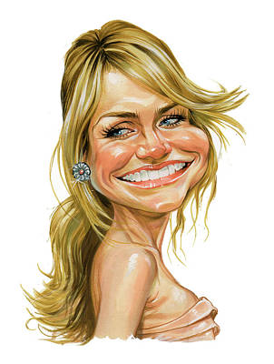 Famous People Painting - Cameron Diaz by Art