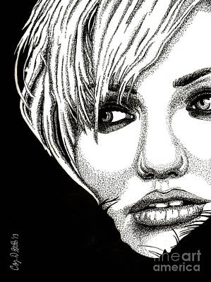 Cameron Diaz Drawing - Cameron Diaz by Cory Still