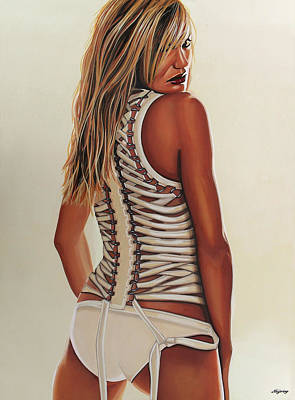 Cameron Diaz Painting Print by Paul Meijering