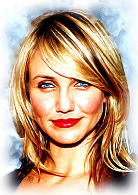 Blockbuster Painting - Cameron Diaz by Paul Quarry
