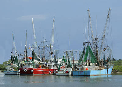 Photograph - Cameron Shrimp Boats by Bradford Martin