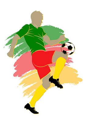 Cameroon Soccer Player Art Print