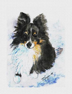 Wall Art - Painting - Camillas Doggie by Tarja Stegars